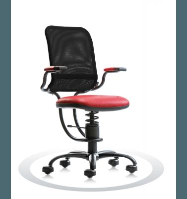 rdeč ergonomski stol