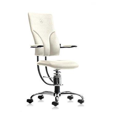 ortopedski stol z ledveno oporo