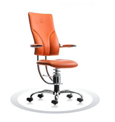 kromiran oranžen ortopedski stol