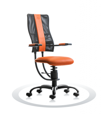računalniški stoli oranžne barve