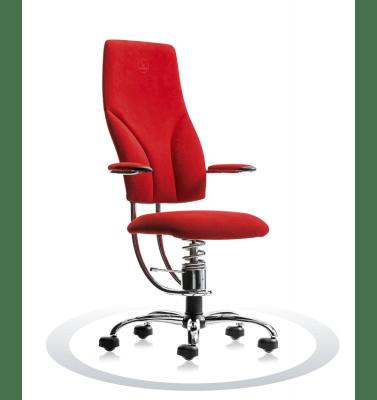 rdeč kromiran pisarniški stol