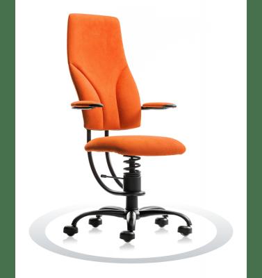 pisarniški stol oranžne barve