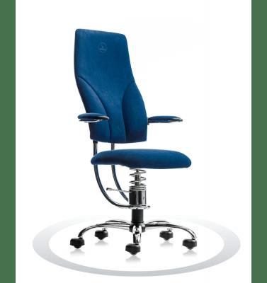 moder kromiran pisarniški stol