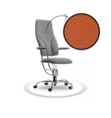 oranžen kromiran pisarniški stol